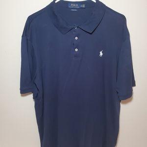 Men's Polo Ralph Lauren Navy Blue Polo Shirt Sz XL